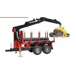Forestry Trailer With Crane