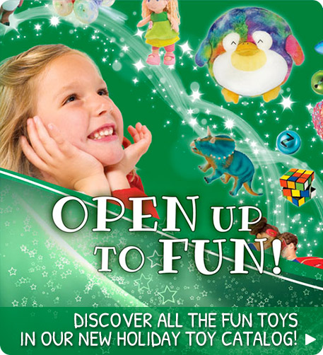 Discover all the fun toys in our new holiday toy catalog!